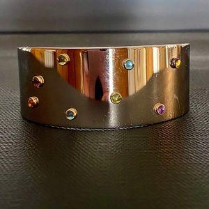 Milor stainless steel/18kt bracelet